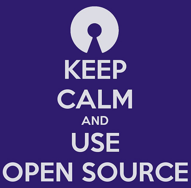 Photo: keep calm and use open source