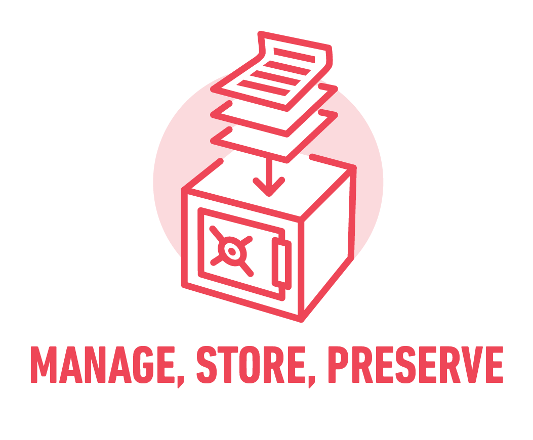Manage, store & preserve
